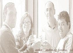 Irudian, Ander, Andrea, Joseba eta Oskar; horietako batzuek ez dute saioan jarraitzen gaur egun