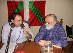 Federico Borrás y Mikel Ezkerro, durante el programa aniversario realizado el año pasado