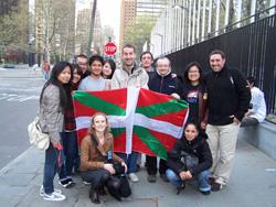 Miembros de la delegación de Autonomia Eraiki en Nueva York