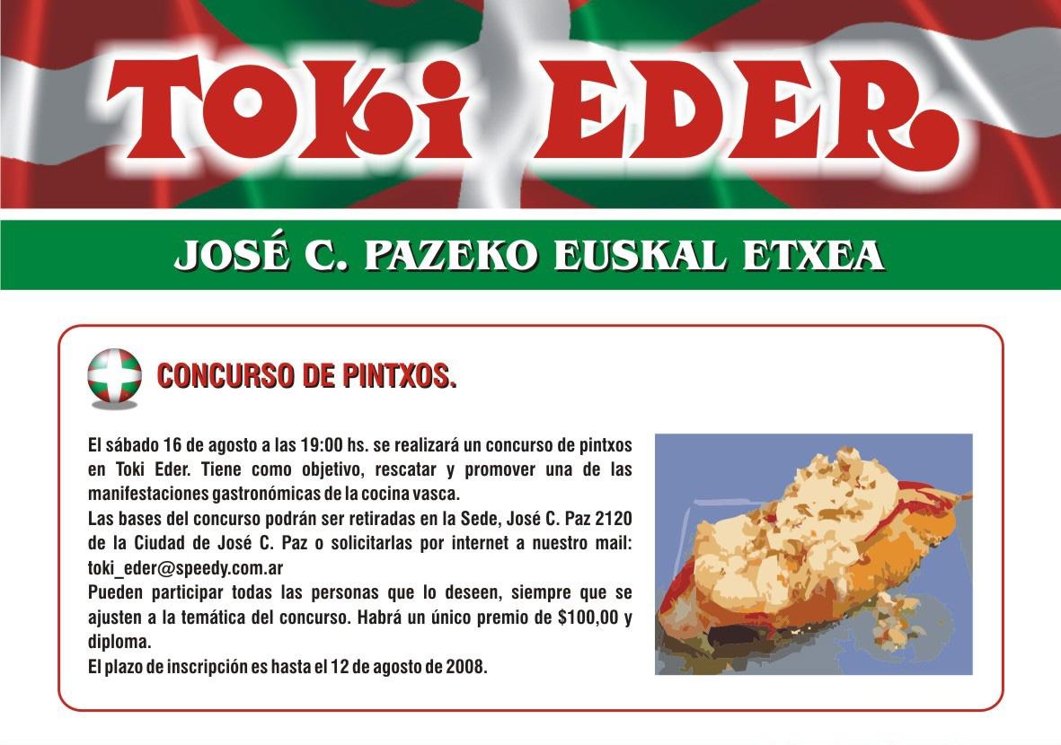Cartel anunciador del Primer Concurso de Pinchos de Toki Eder