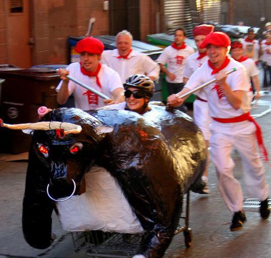 Uno de los 'toros bravos' con los que se realizó el encierro de San Fermín en Seattle