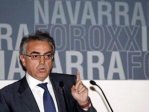 El presidente navarro Miguel Sanz
