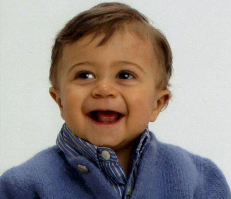 El pequeño Sebastian, cuya vida se intentó salvar mediante una campaña para recabar, tanto en Estados Unidos como en Euskal Herria y la Diáspora vasca, donantes de médula.