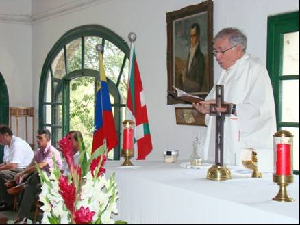 Iazko Aberri Eguneko mezako irudia, Caracaseko Euzko Etxean, Venezuelan (argazkia http://euskoetxeacaracas.blogspot.com)