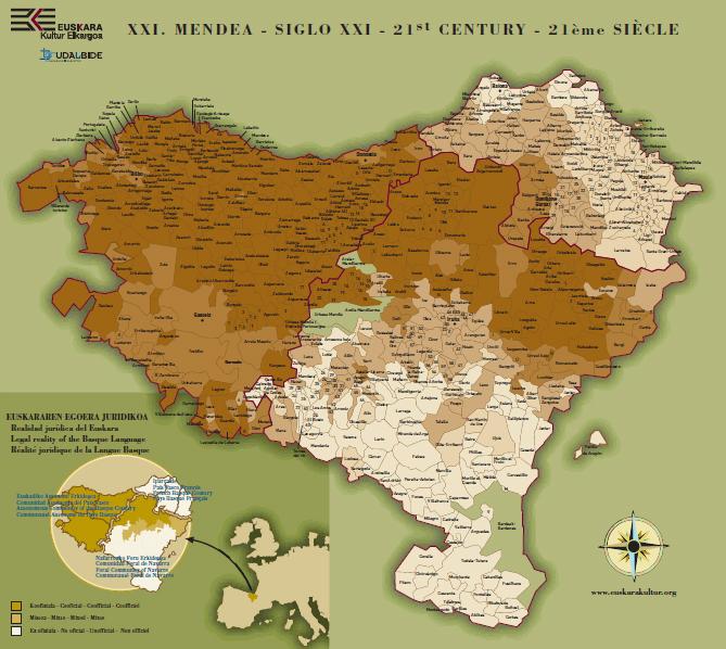 Mapa Euskal Herria Pueblos.Euskal Kultura Noticias