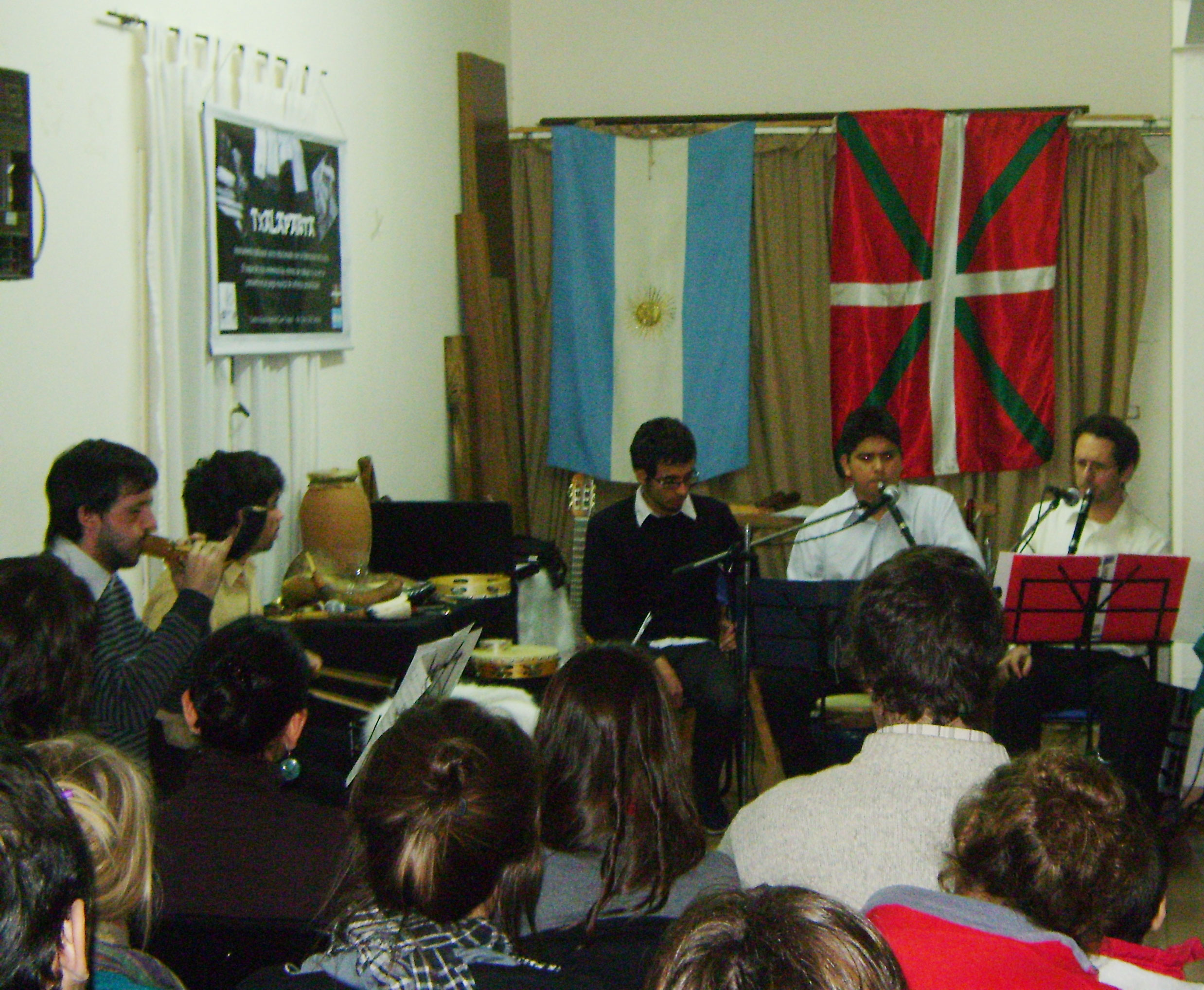 El grupo Baietz en el concierto de alboka