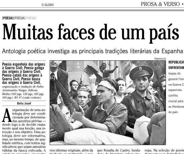 La reseña publicada por O Globo el pasado viernes