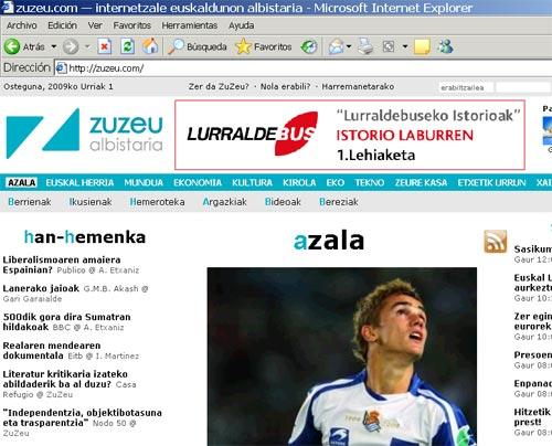 Home de la web www.zuzeu.com
