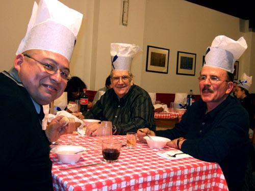 Cena y celebración de la tamborrada de San Sebastián en Eusko Etxea de Nueva York (foto EE)