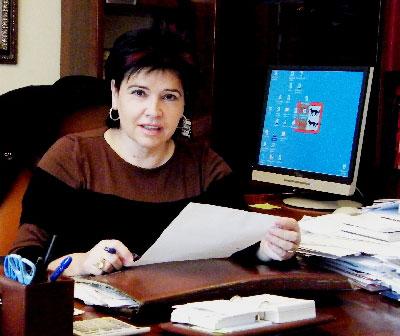 La nueva delegada en Chile, la socialista Ana Urchueguía (Donostia, 1952), en la fotografía de la página web del Ayuntamiento de Lasarte, que abandonará tras casi 25 años en la alcaldía