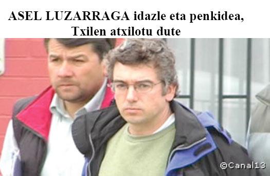 Asel Luzarraga el día de su detención.