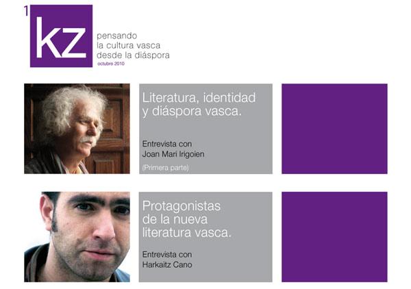 Portada del primer número, correspondiente a octubre de 2010, de la revista digital KZ, publicada desde Argentina por el Club de Lectores Euskalduna de este país latinoamericano (foto EuskalKultura.com)