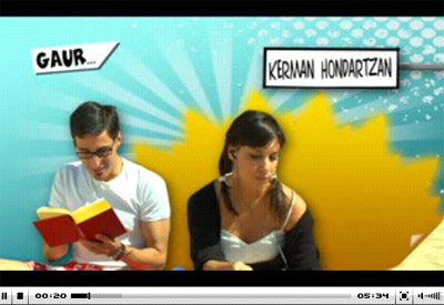 Portada del video del programa de aprendizaje de euskera 'Kerman mintzalagun bila', realizado por Euskal Telebista, la televisión pública vasca