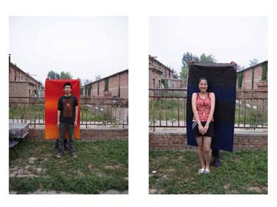 Dos obras realizadas por Lorea Alfaro durante su residencia en Beijing (fotos Lorea Alfaro)