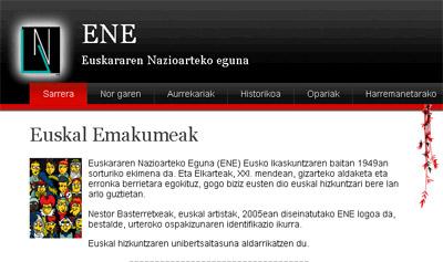 Eusko Ikaskuntzaren Euskararen Nazioarteko Egunaren webgunea
