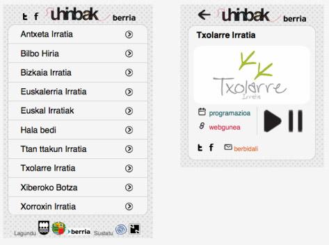 Imagen de la aplicación Uhinbak