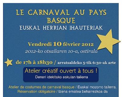 Quebec's Euskaldunak's Carnival event poster