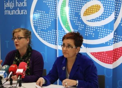 Aizpea Goenega, Etxepare Euskal Institutuaren zuzendaria, eta Mari Jose Olaziregi, Euskararen Sustapen zuzendaria (argazkia Etxepare)