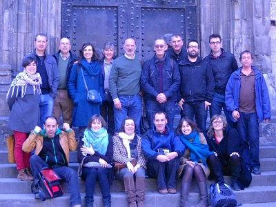 Basque teachers from Barcelona, Madrid, Valencia, Paris and Berlin with HABE representatives (photo HABE)