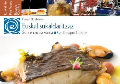 """""""Euskal sukaldaritzaz/Sobre cocina vasca"""", del periodista Hasier Etxeberria, es uno de los libros de la Colección de Cultura Vasca"""