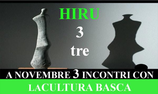 Cartel anunciador de las jornadas culturales Hiru en la Universidad Ca'Foscari