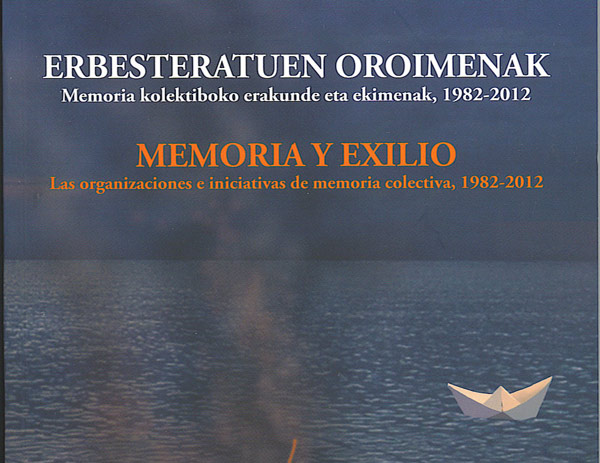 """Portada del libro """"Memoria y exilio"""", escrito por Gregorio Arrien"""