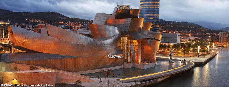 Una bella vista del Museo Guggenheim en una de las panorámicas de 360 grados del fotógrafo Luis Davilla