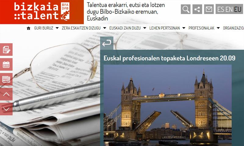 Bizkaia:talent webgunearen irudia