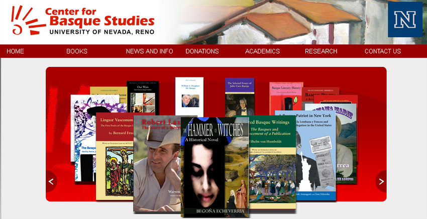 As in previous year, books from the Center for Basque Studies at the University of Nevada, Reno will be at the Azoka