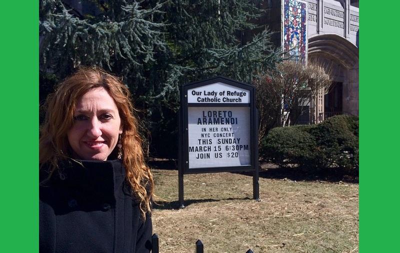 Pozik agertu da Loreto Aramendi oriotarra New Yorken eskainitako kontzertuaren ostean (argazkia Loreto Aramendi)