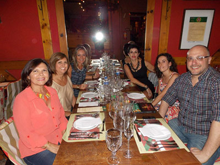 Members of the RGS Basque Club at the Basque Gastronomy Festival of Bazkaria (photo RGSBC)