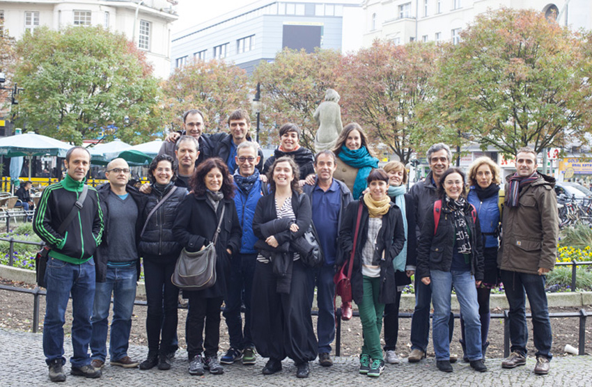 Basque teachers at European Basque clubs at their annual meeting in 2014, held in Berlin (photoHABE)