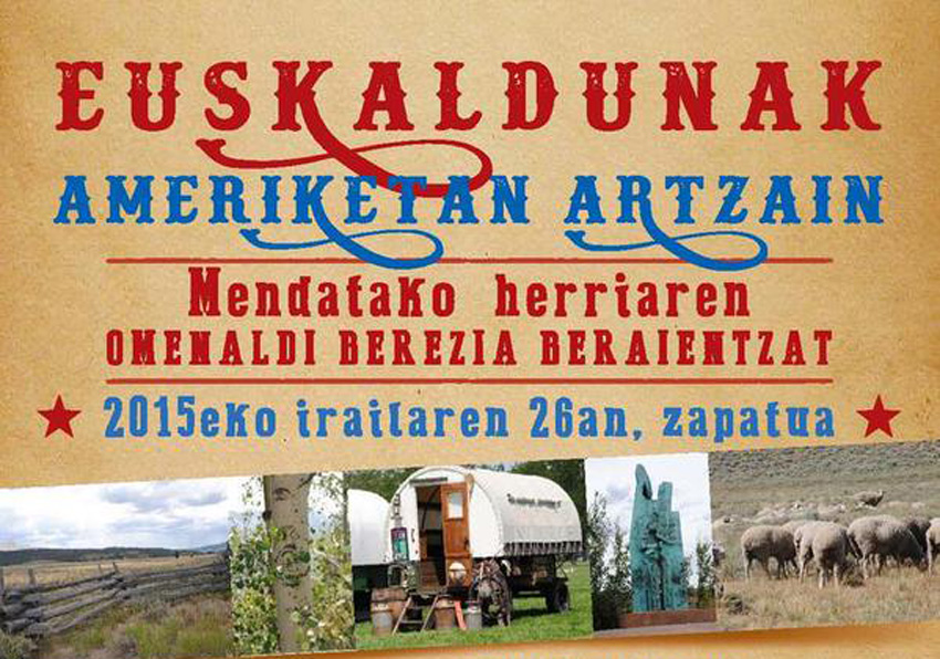 Poster of the tribute to Basque Sheepherders in Mendata