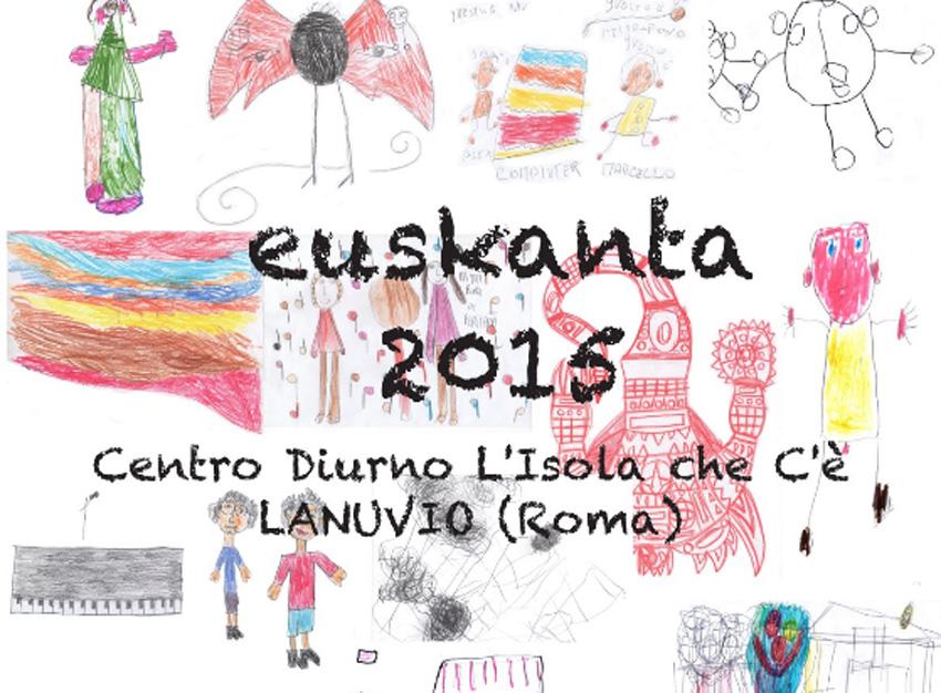 Además de grabar canciones, los participantes en Euskanta también han diseñado dibujos para los libretos