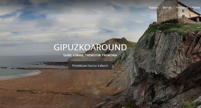 Imagen de la web del proyecto Gipuzkoaround