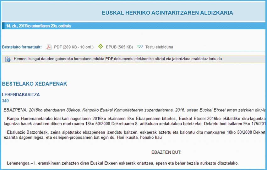Euskal etxe eta federazioekiko dirulaguntzen 2016ko Ebazpena EHAAn