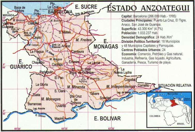 Anzoátegui state, Venezuela (image Venezuela.8m.com)