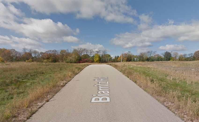 Biarritz Rd. Twin Lakes, Wisconsin (Google Earth)