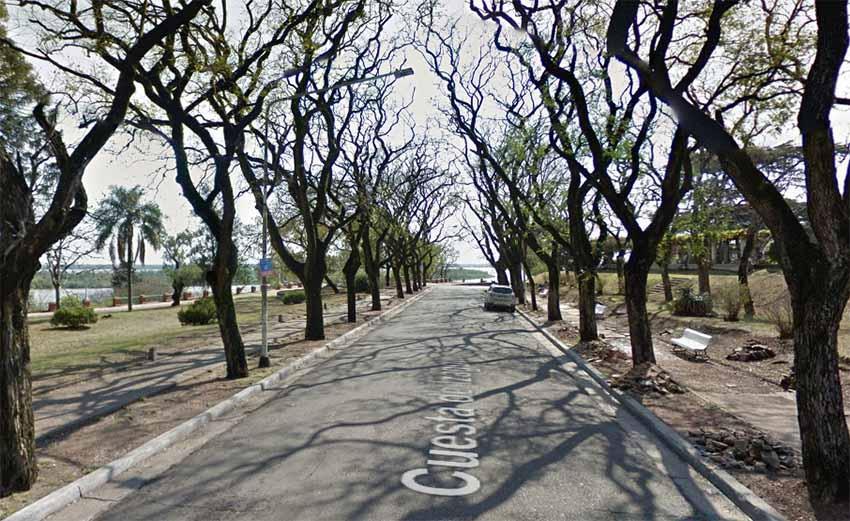 Cuesta de Izaguirre, Paraná (Google Earth)
