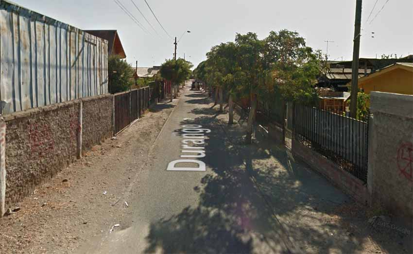 Durango, La Pintana, Txile (Google Earth)