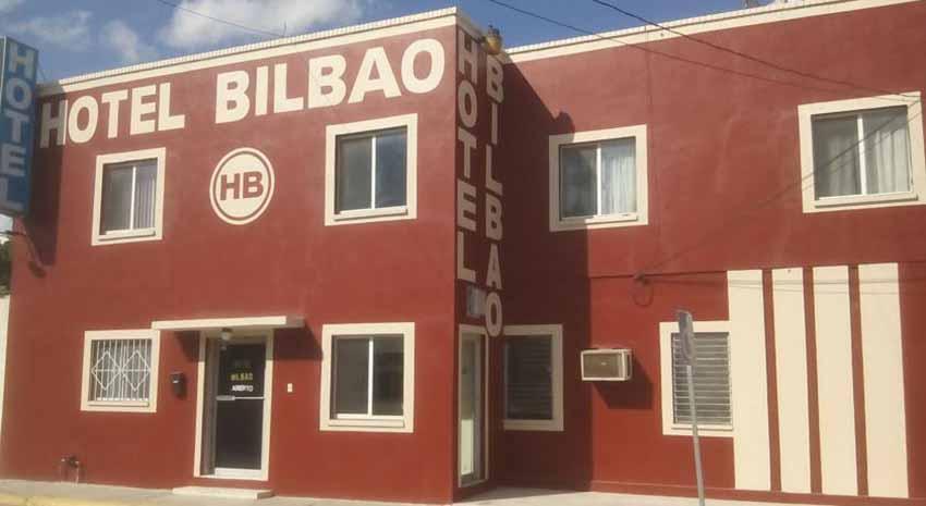 Hotel Bilbao, izen bereko kalean, Colonia Euzkadi, Matamoros, Mexikon (arg. Booking)