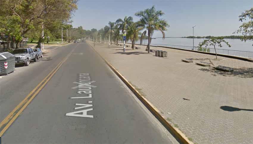 Avenida Laurencena, Paraná (Google Earth)