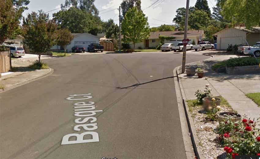 Basque Ct, Napa, Kalifornia (arg. Google Earth)