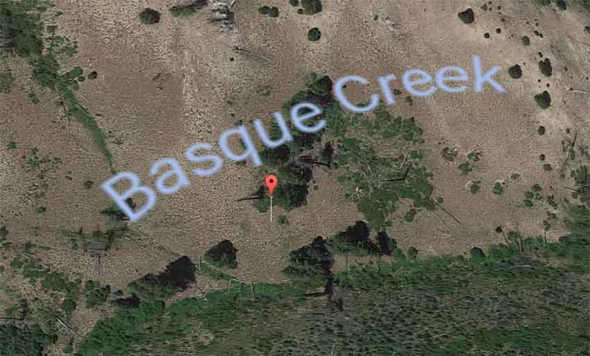Basque Creek Elmore County Idaho (photo Google Earth)