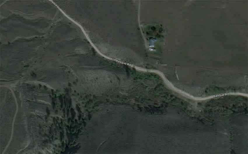 Basque Road Ashcroft British Columbia (arg. Google Earth)