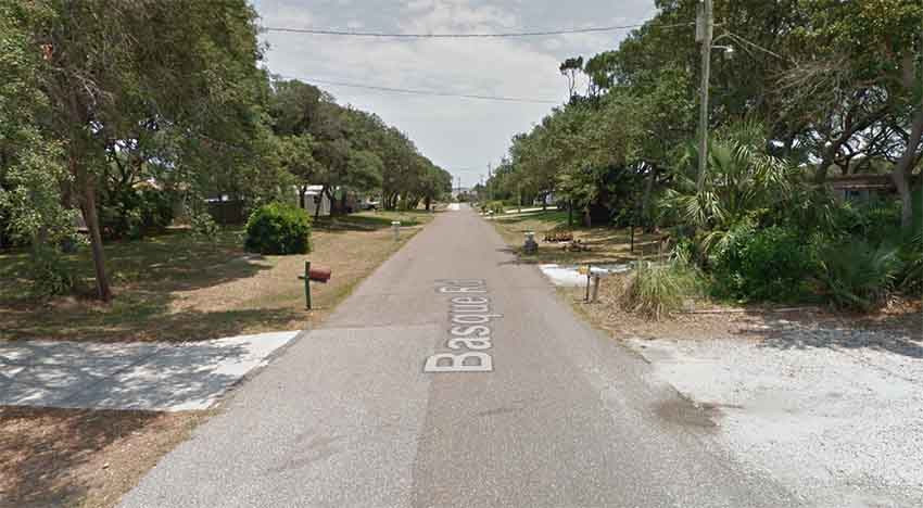 Basque Road St Augustine Florida (arg. Google Earth)