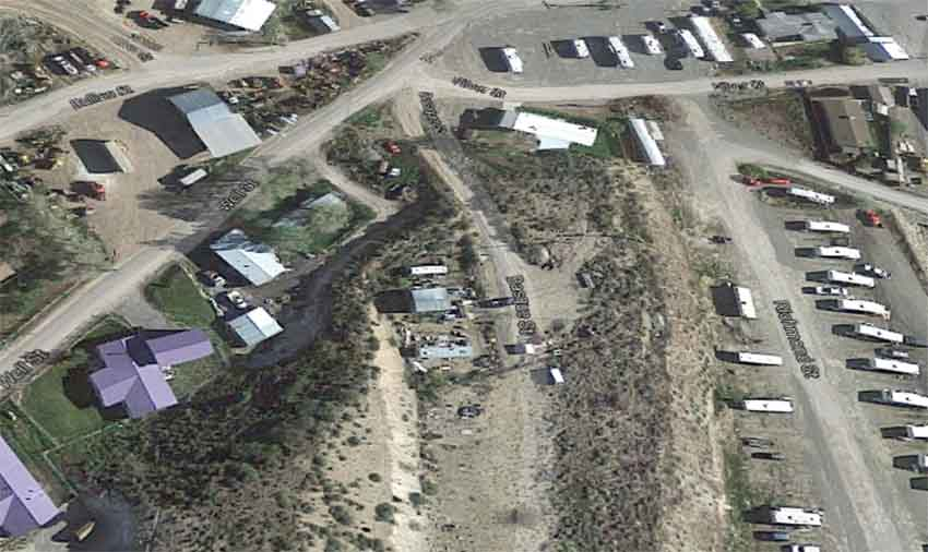 Basque Street Eureka Nevada (photo Google Earth)