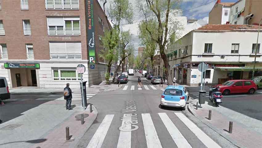 Calle de los Vascos Madrid (arg. Google Earth)