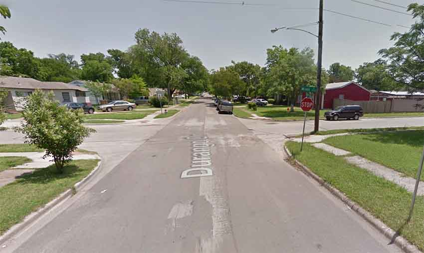 Durango Drive Dallas Texas (photo Google Earth)