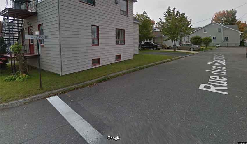 Rue des Basques Trois Pistoles Quebec (arg. Google Earth)